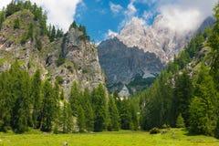 De Dolomietbergen dichtbij aan Cortina, Italië Royalty-vrije Stock Foto's