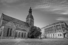 De Dom Kathedraal in Riga, Letland. Stock Foto