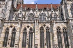 De dom-kathedraal van Regensburg, Duitsland (de plaats van Unesco) Royalty-vrije Stock Foto