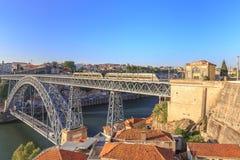 De Dom Luiz-brug Stock Afbeeldingen