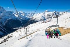 De Dombay-skitoevlucht Stock Fotografie