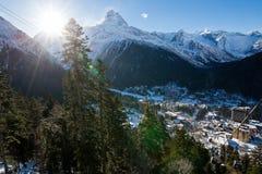De Dombay-skitoevlucht Royalty-vrije Stock Foto's