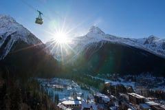 De Dombay-skitoevlucht Stock Afbeeldingen