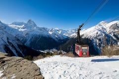De Dombay-skitoevlucht Stock Foto