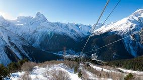 De Dombay-skitoevlucht Royalty-vrije Stock Fotografie