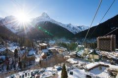 De Dombay-skitoevlucht Royalty-vrije Stock Foto
