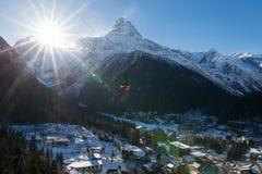 De Dombay-skitoevlucht Stock Afbeelding