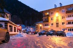 De Dombay-straat van de skitoevlucht Royalty-vrije Stock Foto