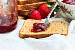 De Domeinen van de toost en van het Fruit Stock Foto
