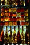 De domeinen van het gebrandschilderd glas Stock Afbeelding