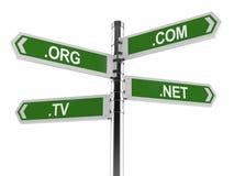 De domeinennamen voorzien van wegwijzers Royalty-vrije Stock Fotografie