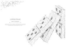 De dominó do efeito cinza poli baixo ilustração do vetor