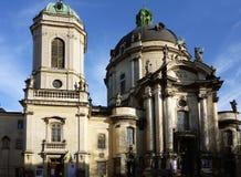 De Dominicaanse kerk en het klooster in Lviv Royalty-vrije Stock Afbeeldingen
