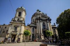 De Dominicaanse kerk en het klooster in Lviv, de Oekraïne Royalty-vrije Stock Afbeelding