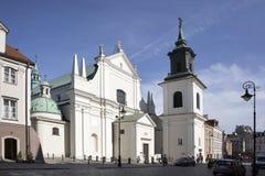 De Dominicaanse Kerk van St Jacek wordt gevestigd op Freta-Straat, in het centrale district van Warshau Stock Afbeeldingen