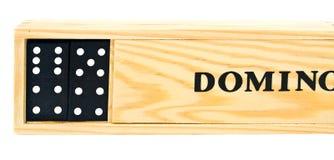 De domino is in de geopende doos Royalty-vrije Stock Afbeeldingen