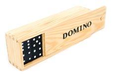 De domino is in een doos Royalty-vrije Stock Afbeelding