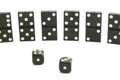 De domino's breekt af en dobbelt Royalty-vrije Stock Fotografie