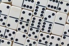 De domino's sluiten Mening Royalty-vrije Stock Fotografie