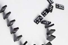 De domino's vallen om Stock Fotografie
