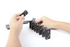 De domino's van de opstelling Royalty-vrije Stock Foto