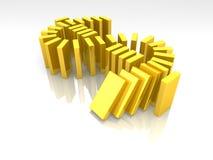 De domino van de dollar Royalty-vrije Stock Foto