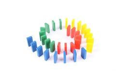 De domino van de kleur Stock Foto's