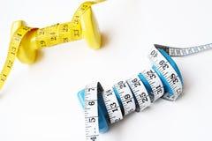 De domoor van het geschiktheidsconcept en het meten van band Stock Foto's