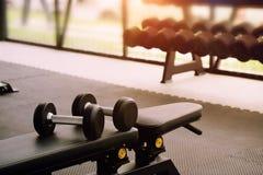 De domoor van het sportmateriaal in fitness gymnastiek Royalty-vrije Stock Afbeeldingen