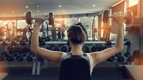 De domoor van het vrouwengewichtheffen het bodybuilding Royalty-vrije Stock Afbeelding