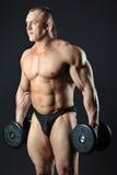 De domoren van de bodybuilderholding Stock Foto's