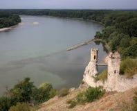 De Donau van het Kasteel Devin Stock Fotografie