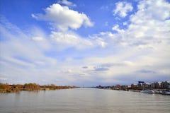 De Donau in Wenen Royalty-vrije Stock Afbeeldingen