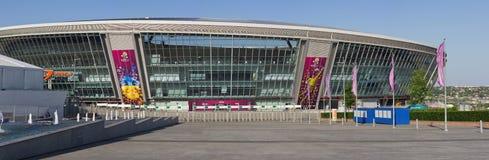De donbass-arena is klaar voor EURO 2012 Stock Foto's