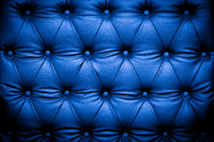 De donkerblauwe achtergrond van de leertextuur Royalty-vrije Stock Afbeeldingen