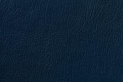 De donkerblauwe achtergrond van de leertextuur met patroon, close-up Royalty-vrije Stock Afbeelding