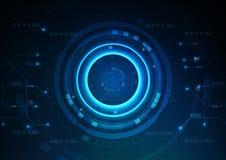 De donkerblauwe Achtergrond van het Technologiespel stock illustratie