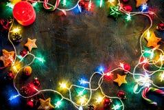 De donkerblauwe achtergrond van Kerstmis Royalty-vrije Stock Foto's