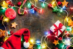 De donkerblauwe achtergrond van Kerstmis Royalty-vrije Stock Fotografie