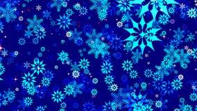 De donkerblauwe achtergrond van Kerstmis Stock Afbeelding