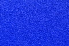 De donkerblauwe achtergrond van de leertextuur Stock Afbeelding