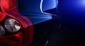 De donkerblauwe auto Royalty-vrije Stock Afbeelding