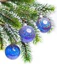 De donkerblauwe bal van het Nieuwjaar s Royalty-vrije Stock Afbeeldingen