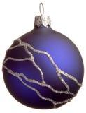 De donkerblauwe bal van Kerstmis Royalty-vrije Stock Fotografie