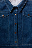 De donkerblauwe close-up van de overhemdstextuur Royalty-vrije Stock Afbeelding