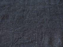 De donkerblauwe close-up van de linnentextuur Royalty-vrije Stock Fotografie