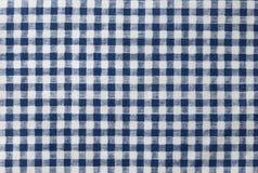 De donkerblauwe en Witte Gecontroleerde Achtergrond van het Servetpatroon Stock Foto