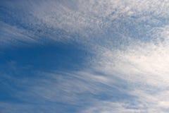 De donkerblauwe hemel Stock Afbeelding