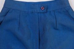 De donkerblauwe jeans sluiten omhoog Stock Foto
