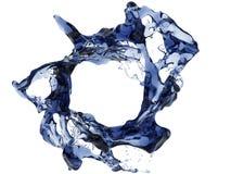 De donkerblauwe plons van het kristalwater Royalty-vrije Stock Foto